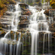 Issaqueena Falls during autumn season in Walhalla, South Carolina - PhotoDune Item for Sale