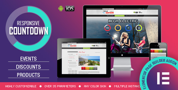 Download Elementor Widget – CountDown PRO – Events/Products Launch Free Nulled