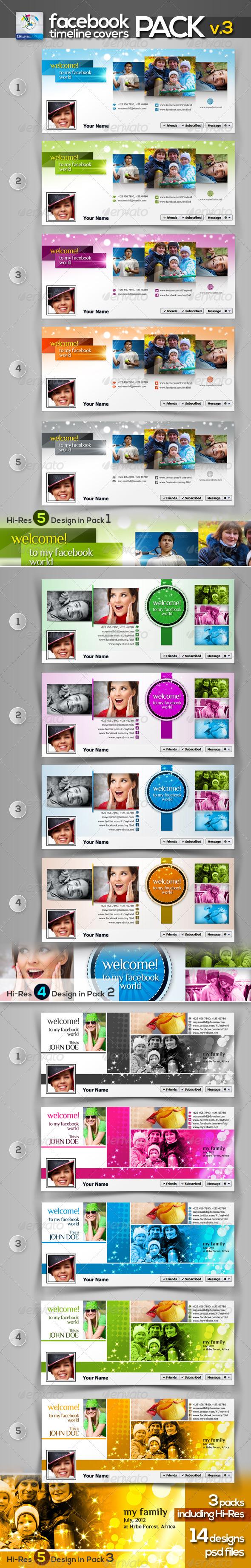 Modern Facebook Timeline Cover Pack v.3 - Facebook Timeline Covers Social Media