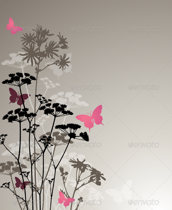 Floral Background with Night Flowers - Flowers & Plants Nature