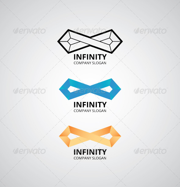 Infinity Shape Logo - Abstract Logo Templates