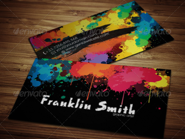 Graphic paint artist business card by nonerazvan graphicriver graphic paint artist business card creative business cards preview image set01frontg preview image set02backg preview image colourmoves