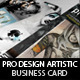 Pro Design - Artistic Business Card Vol.2 PSD - GraphicRiver Item for Sale