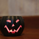 Pumpkin Halloween decoration lamp at home - PhotoDune Item for Sale