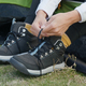Woman wear sport shoes at camping site - PhotoDune Item for Sale
