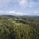 Aerial view of forest and houses in the Blue Ridge Mountains of western North Carolina. - PhotoDune Item for Sale