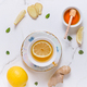Tea with lemon, ginger and honey as natural medicine - PhotoDune Item for Sale