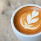 Close up shot of Heart shaped coffee latte. - PhotoDune Item for Sale