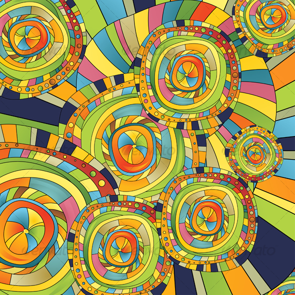 Abstract Background Color of the Circles and Slips - Abstract Conceptual