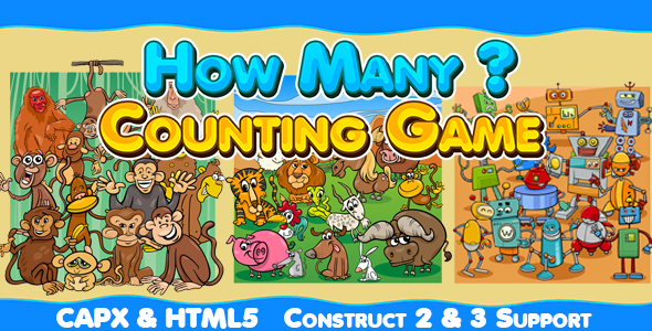 How Many (CAPX and HTML5) Kids Counting Game