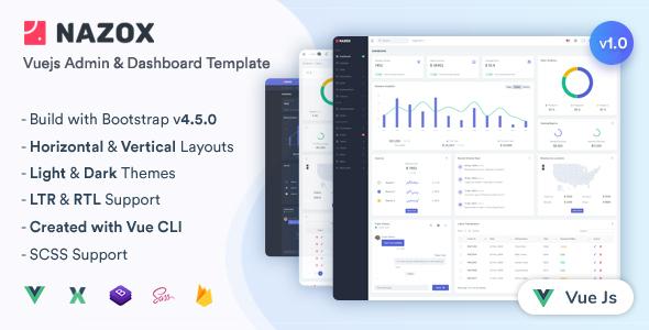 Nazox - Vuejs Admin & Dashboard Template