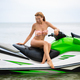 sexy woman in bikini on water scooter in sea summer style - PhotoDune Item for Sale