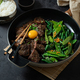 Homemade Barbecue Korean Beef Bulgogi, grilled beef steak with spicy sauce, copy space - PhotoDune Item for Sale