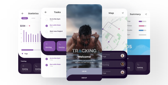 Tracking - Professional UI/UX Ionic 5 Kit