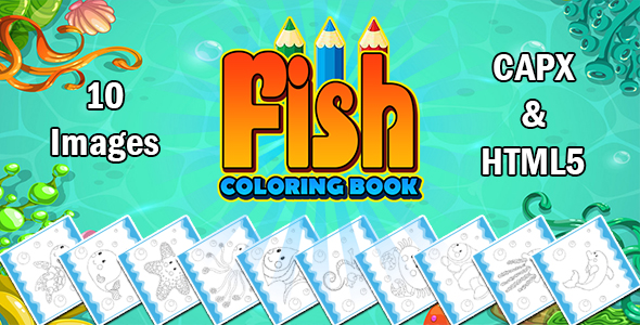 Fish Coloring Book App (CAPX and HTML5)
