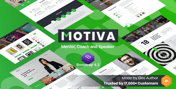 Motiva - Mentor, Coach and Speaker Website Template