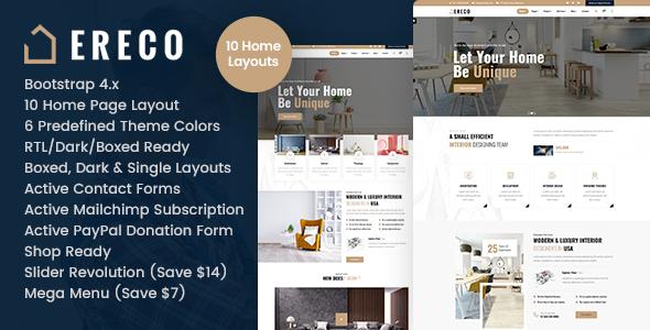Ereco - Architecture & Interior Design HTML Template