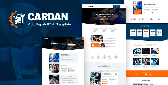 Cardan - Car Repair Services HTML Template