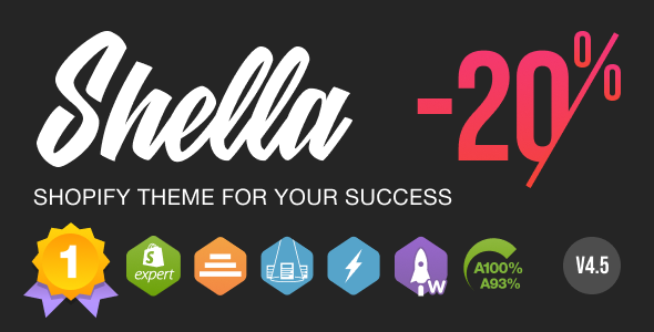 Shella - Multipurpose Shopify theme, fastest with the banner builder
