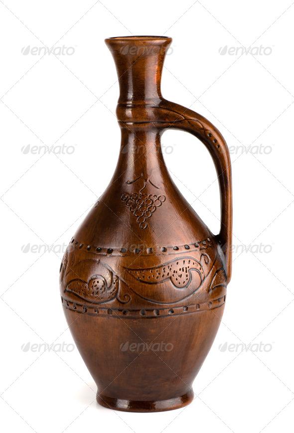 Wine jug - Stock Photo - Images