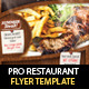 Restaurant Steak House Flyer PSD Template