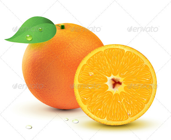 Fresh juicy oranges - Organic Objects Objects