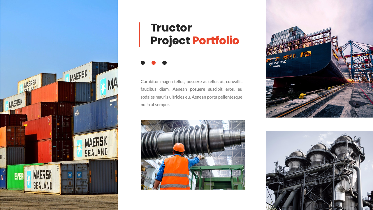 Tructor Clean Industrial Factory Powerpoint Template By Waywee Creative