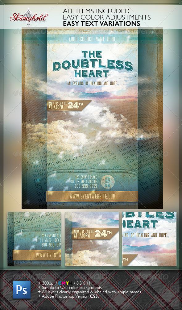 Doubtless Heart Church Flyer Template - Church Flyers