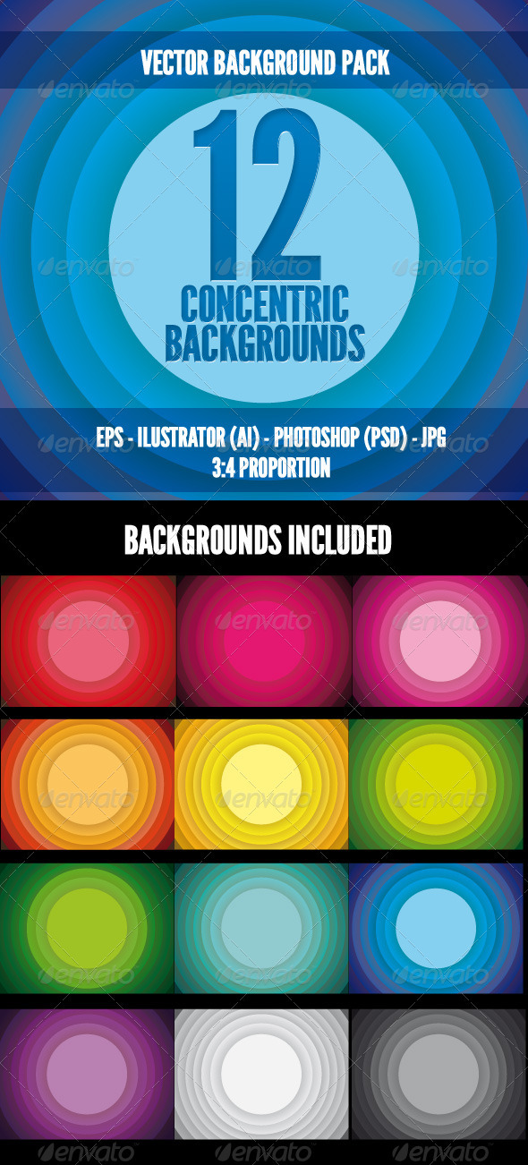 Concentric Color Backgrounds - Backgrounds Decorative