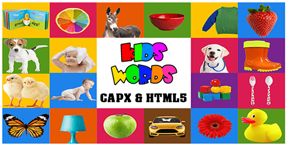 Kids Words Game (CAPX and HTML5) Kids Learning Game