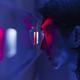 Iris scanner man using biometrics to unlock a door - PhotoDune Item for Sale