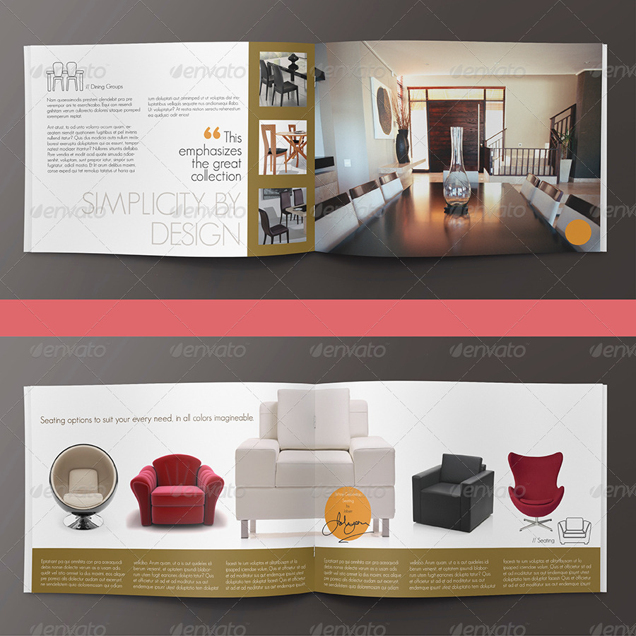 Modern home interior design brochure catalog by mailchelle graphicriver Home style furniture catalogue
