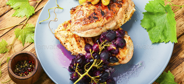 Roast chicken fillet - Stock Photo - Images