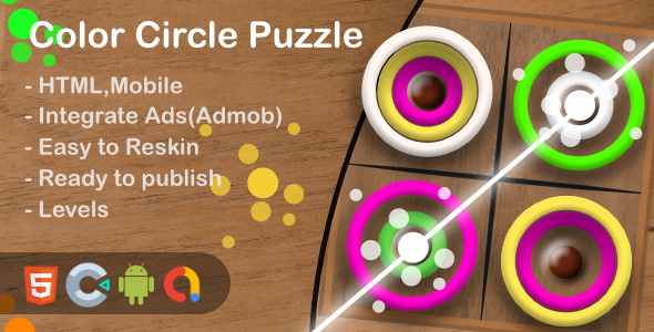 Color Circle Puzzle(Html5 + Construct 3 +Mobile)