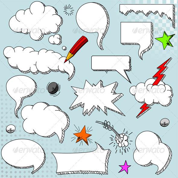 Speech bubbles - Decorative Symbols Decorative