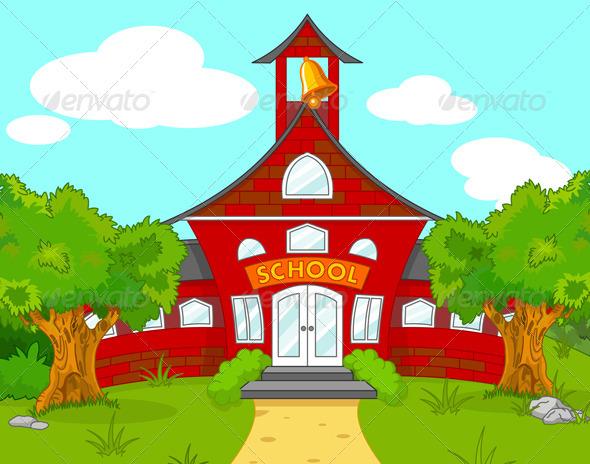 School landscape - Buildings Objects