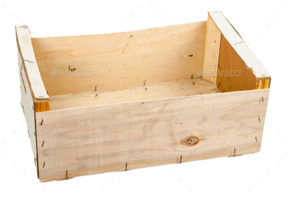 Wooden box for fruit - Stock Photo - Images