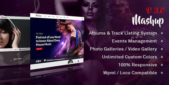 Exceptional MashUp | Music WordPress Theme