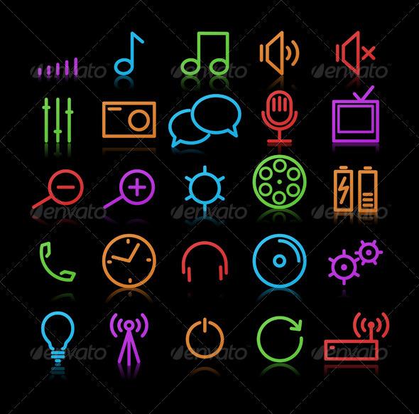 Multimedia Icons - Conceptual Vectors