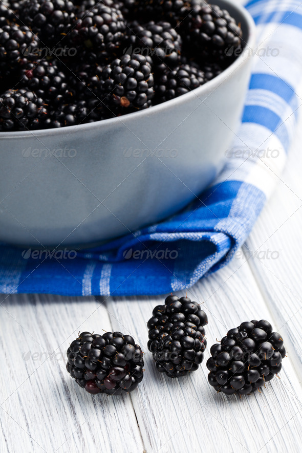 blackberry fruit - Stock Photo - Images