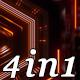 Neon Pulse - VJ Loop Pack (4in1) - VideoHive Item for Sale