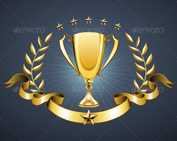 Golden trophy  - Conceptual Vectors