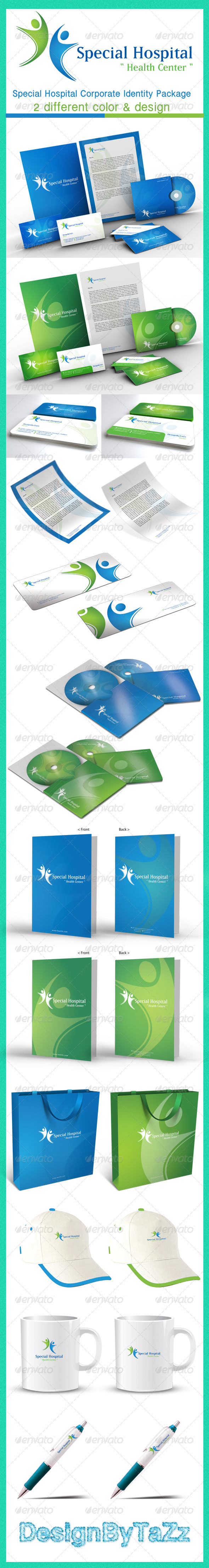 Special Hospital Corporate Identity Package - Stationery Print Templates