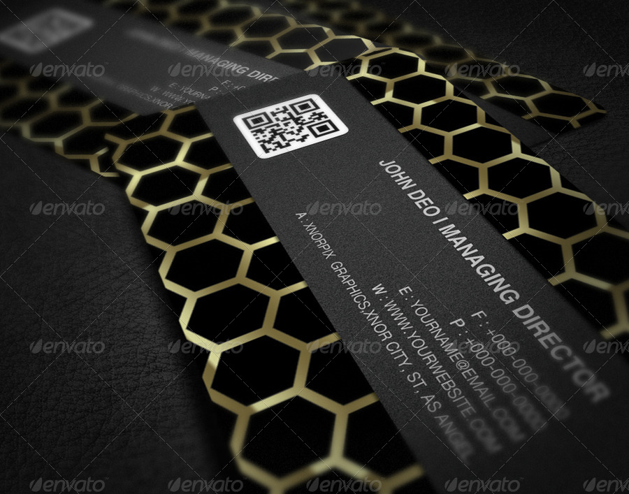 Gold Business Card by -axnorpix | GraphicRiver