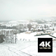 Fast Motion Aerial View Over Snowy French Countryside - VideoHive Item for Sale