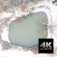 Aerial High Angle View of Snowy and Misty Pond - VideoHive Item for Sale
