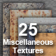 25 Miscellaneous Wall Textures - GraphicRiver Item for Sale