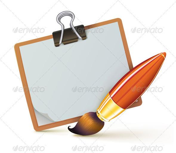 Paint brush - Objects Vectors