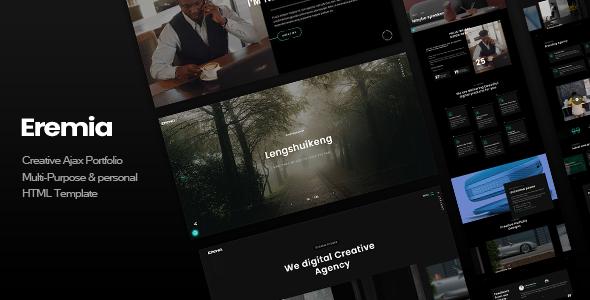 Eremia – Creative Ajax Portfolio Multi-Purpose & personal HTML Template
