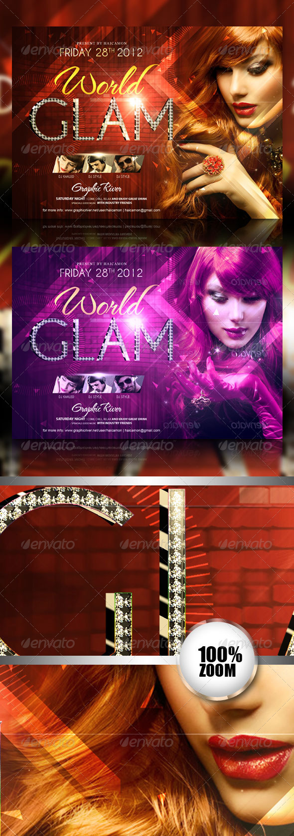 Glam World Party Flyer - Flyers Print Templates